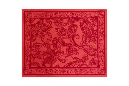 Diner en Ville garnet red Placemat luxury table linens by Beauvillé