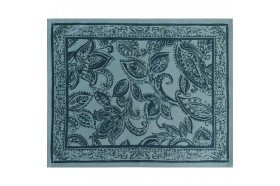 Diner en Ville teal Placemat French luxury table linens by Beauvillé