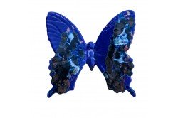 Cobalt Butterfly Provencal Ceramic handmade by Louis Sicard made in France