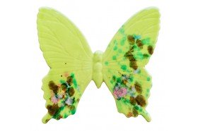 Lime Green Butterfly Provence Ceramic made in France by Louis Sicard