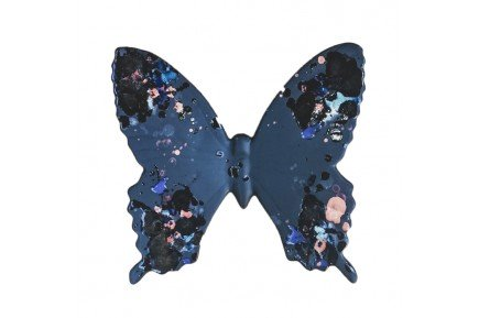 Black Butterfly Provence Ceramic handmade in France by Louis Sicard