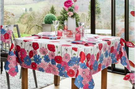 Summer Flowers Fleurs des Champs  French tablecloth by Beauville