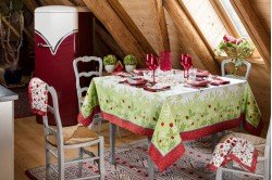 Summer Fruits French tablecloth made in France by Beauville