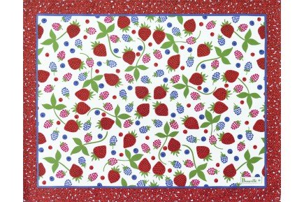 Summer Fruits French placemats made in France by Beauville