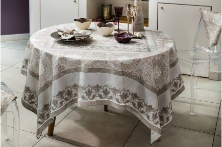 Palazzo Frost French luxury Christmas Holiday Tablecloth made in France by Beauvillé