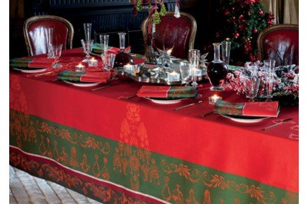 Noel Baroque French Christmas Tablecloth made in France by Garnier-Thiebaut