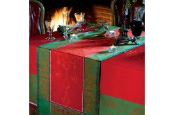 Noel Baroque luxury French Christmas Table Runner made in France by Garnier-Thiebaut
