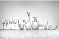 Seville Luxury French crystal glassware rose
