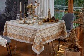 Christmas Gold Symphony French tablecloth by Beauvillé
