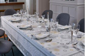 Christmas Silver  Symphony French tablecloth by Beauville