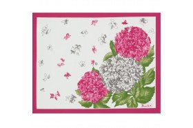 Hydrangeas placemats French table linens by Beauville