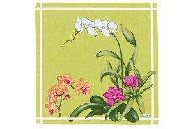 Orchids luxury napkins by Beauvillé