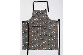 Picoti Chickens Apron Beauvillé French Kitchen linens